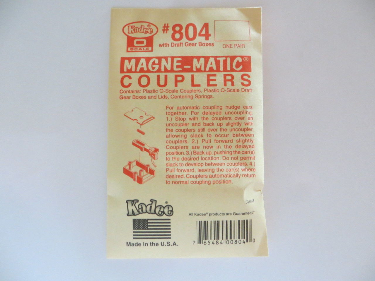 Kadee 804 O Scale Couplers Acetal Plastic with Metal Springs