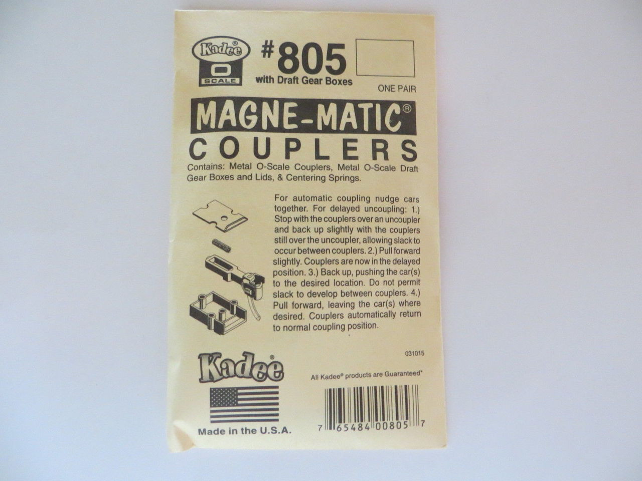 Kadee 805 O Scale Couplers All Metal