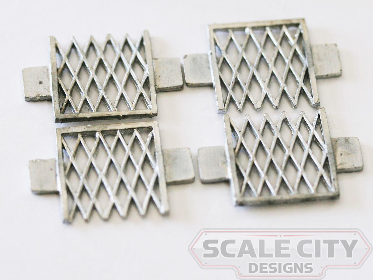 48-226 Vertibule gate diamond bars Passenger Car O Scale