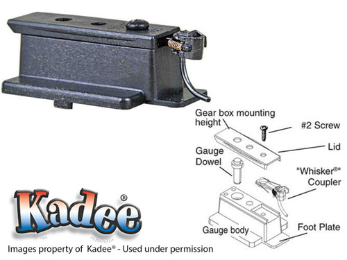 206 Kadee® HO Scale Coupler Height Multipurpose Gauge