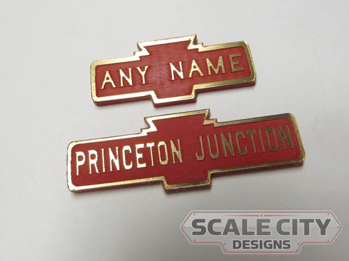 PRE-FINISHED PRR Pennsylvania LARGE Station Sign Laser Cut CUSTOMIZED ANY NAME O Scale