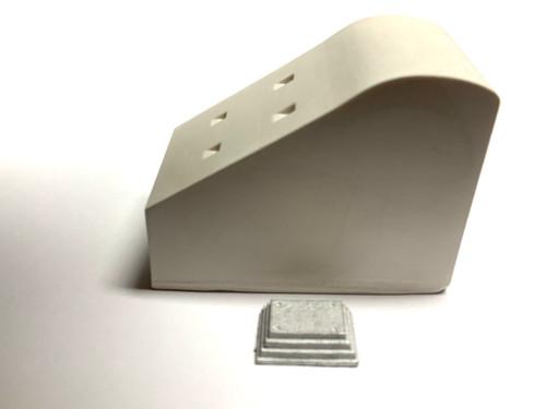 48-599 concrete track bumper (prr style) O scale