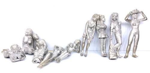 48-1283 Brothel Set Nude Figures O Scale Figure FKA Keil Line unpainted