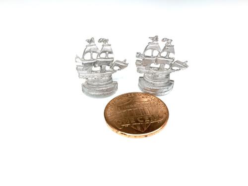 MM-31 Bookends Clipper Ship mantel bookcase Dollhouse Miniature