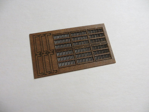48-4009 Laser Cut sewer rain water catch basin grate curb O Scale storm drain