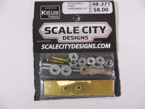 48-371 Removable Roof Hardware Kit Passenger Car O Scale FKA Keil Line Walthers