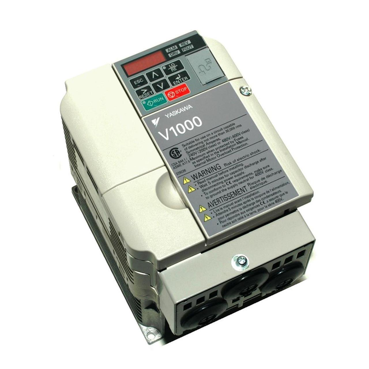 Yaskawa V1000 Series CIMR-VU2A0012FAA Compact Drive on