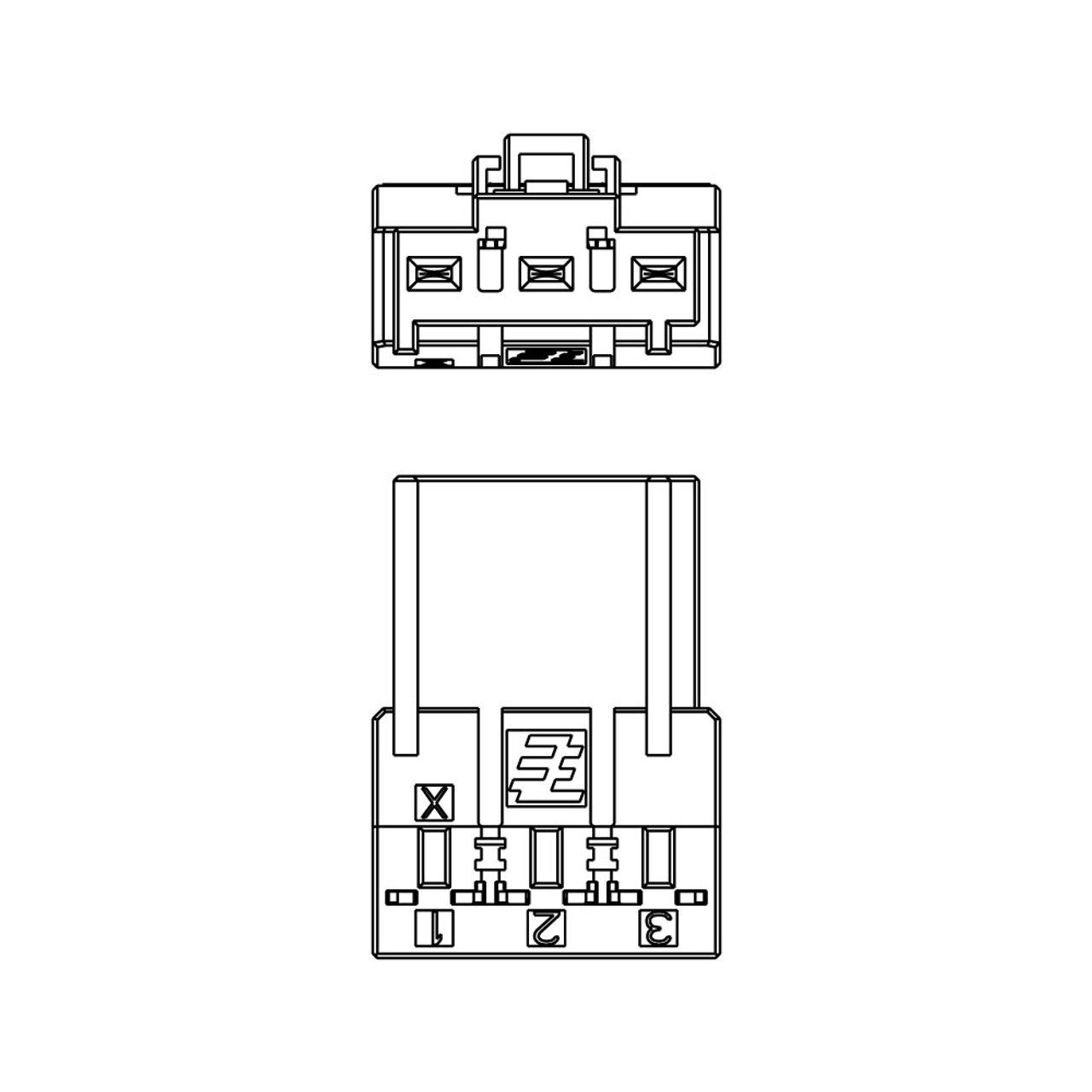 Yaskawa 1-2013522-3 AMP Connector Rectangular Assembly