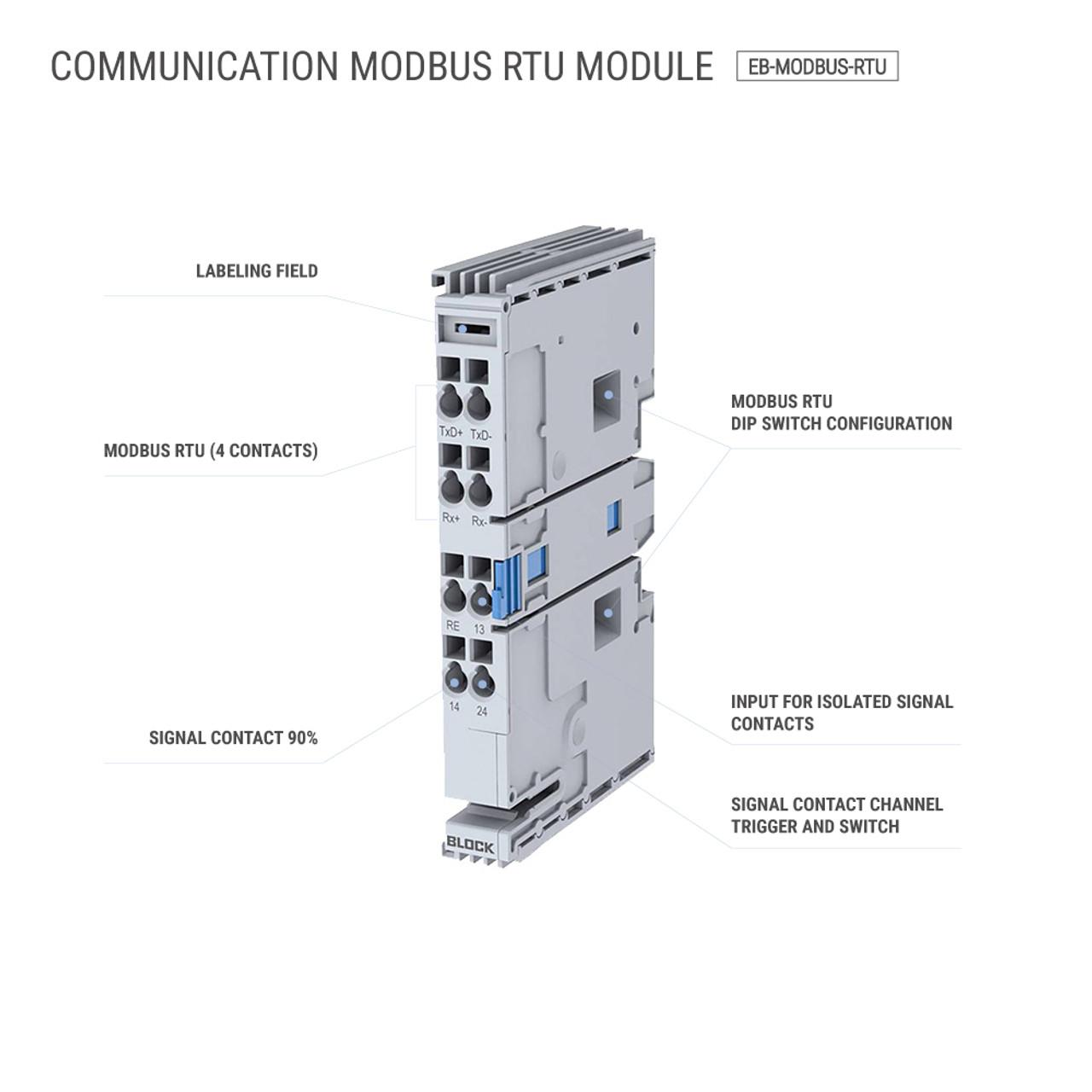 Block EB-MODBUS-RTU Communication Module