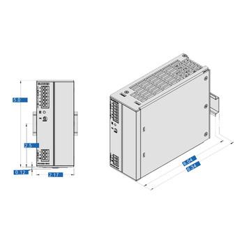 Block PC-0112-050-0 Switched Mode DIN Rail Mount Power Supply