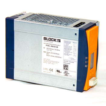 Block PVSL 400/24-20 Basic Switched Mode DIN Rail Mount Power Supply