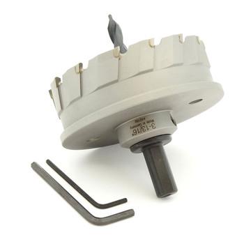 "ALFRA 0760097 MBS-PRO Series TCT HOLE SAW, 3-13/16"" DIA, 1-3/16"" DOC"