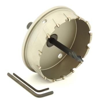 "ALFRA 0760100 MBS-PRO Series TCT HOLE SAW, 3-15/16"" DIA, 1-3/16"" DOC"