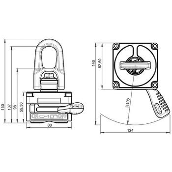 ALFRA TML-220-R TML-90-R Lifting Magnet For Pipes (41100.L.R)