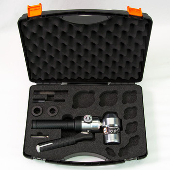 ALFRA 02050 Compact Combi Swivel Head Hand Hydraylic Punch Kit w/Draw Bolts, Pre-Drill, Bushings