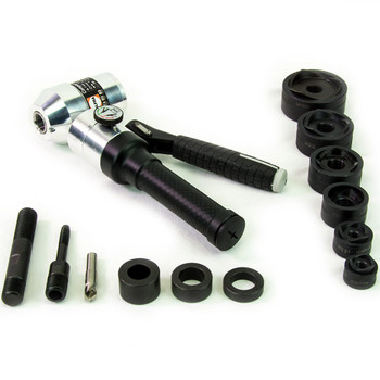 "ALFRA 02051 Compact Combi Swivel Head Hand Hydraulic Punch Kit w/MonoCut 1/2"" - 2"" Conduit punch/die sets"