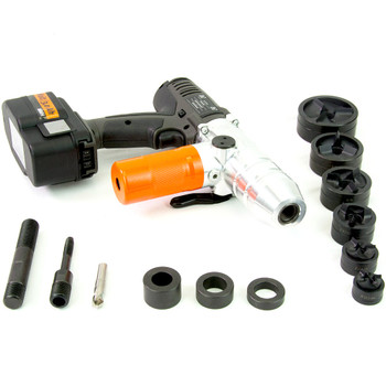 "ALFRA 02075.120TC AKKU Compact Cordless Punch Kit w/TriCut 1/2"" - 2"" Conduit punch/die sets"
