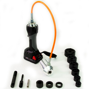 "ALFRA 02082.120M AKKU Compact Flex Cordless Punch Kit w/MonoCut 1/2"" - 2"" Conduit punch/die sets"