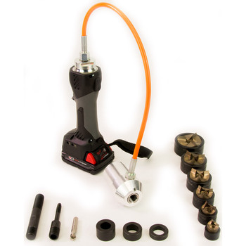"ALFRA 02082.120TT AKKU Compact Flex Cordless Punch Kit w/TriCut Plus 1/2"" - 2"" Conduit punch/die sets"