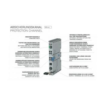 Block EB-2824-010-0 Single-Channel Electronic Circuit Breaker, 24 VDC, 1 A