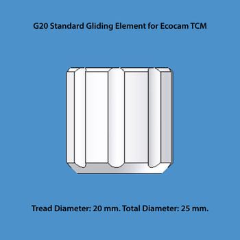 Ecocam G20 Standard Gliding Element for Tangential Cutting Modules, 20 mm Tread Diameter (250010)