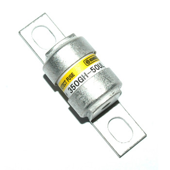 Hinode 350GH-50UL Cylindrical Fast Acting Fuse, 350V AC/DC, 50A