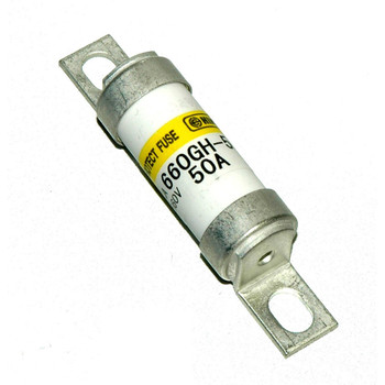 Hinode 660GH-50UL Cylindrical Fast Acting Fuse, 660V AC/DC, 50A