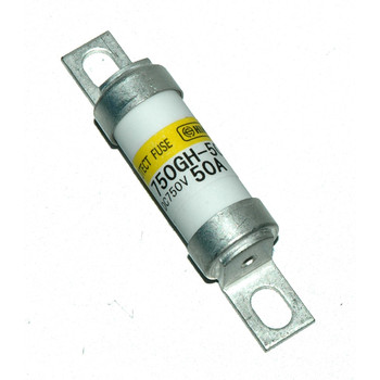 Hinode 750GH-50UL Cylindrical Fast Acting Fuse, 750V AC/DC, 50A