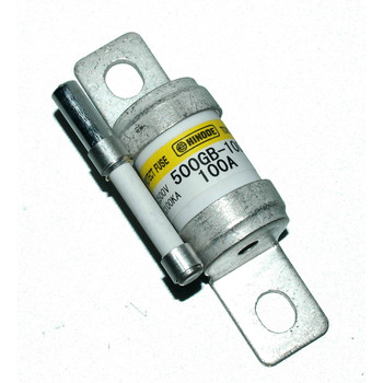 Hinode 500GB-100S Cylindrical Fast Acting Fuse, 500V AC/DC, 100A