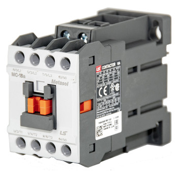 LSIS MC-18A METASOL Series Magnetic Contactor, AC480V 60Hz, Screw 1a, EXP (MC18A-30-10-W6-S-E)
