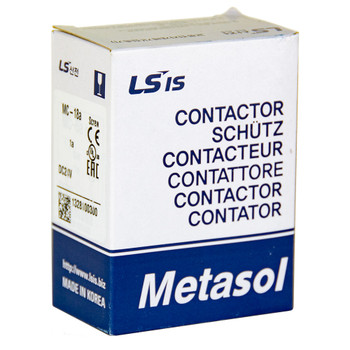 LSIS MC-18B METASOL Series Magnetic Contactor, AC480V 50/60Hz, Screw 1a1b, EXP (MC18B-30-11-W6-S-E)