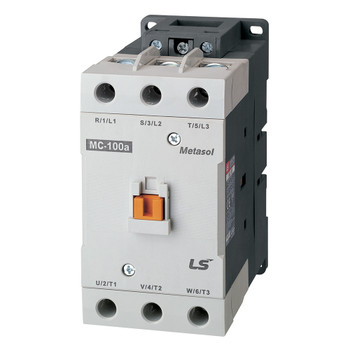 LSIS MC-100A METASOL Series Magnetic Contactor, AC24V 50/60Hz, Lug 2a2b, EXP (MC100A-30-22-B7-L-E)