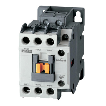 LSIS MC-22B METASOL Series Magnetic Contactor, AC480V 60Hz, Screw 1a1b, EXP (MC22B-30-11-W6-S-E)