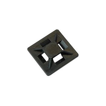 Partex HFC1/4 Self-adhesive Cable Tie Mounts, 0.8 x 0.8in (20 x 20mm)