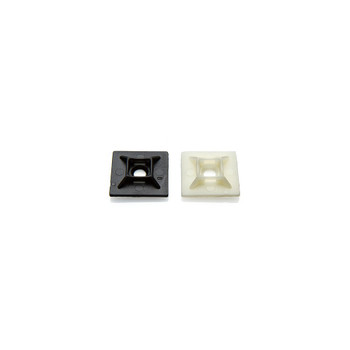 Partex HFC2/4 Self-adhesive Cable Tie Mounts, 1.1 x 1.1in (28 x 28mm)