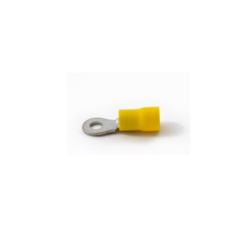 Partex 12-10 AWG Yellow PVC Insulated Ring Terminals