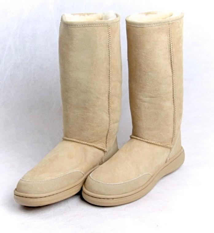 Skinnys Outback Tall Sheepskin Boot Natural