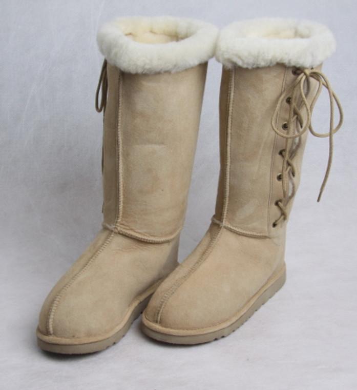 SALE - Lace-up Sheepskin Boot