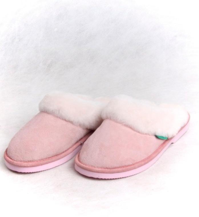 Skinnys Ladies Cosy Wool Scuff Pink