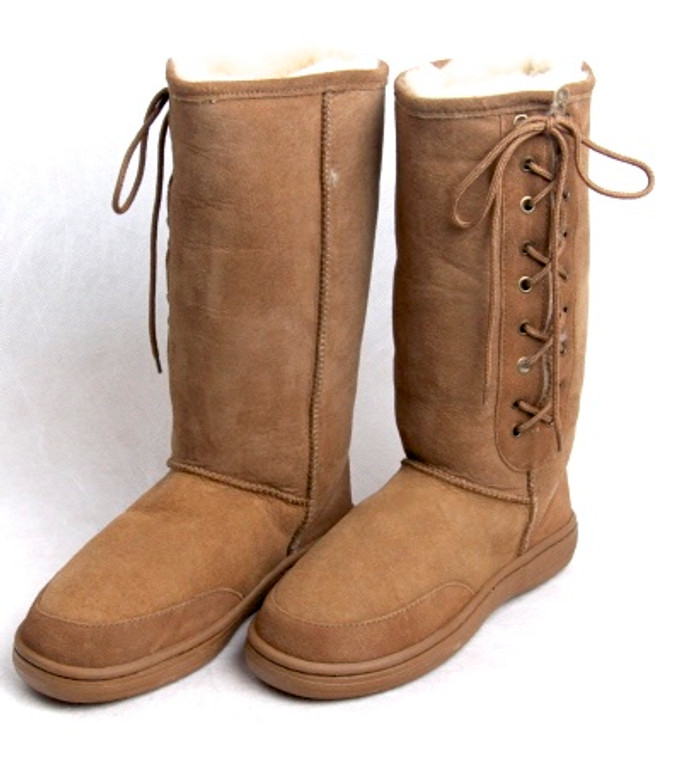 Skinnys Outback lace-Up Boot Chestnut