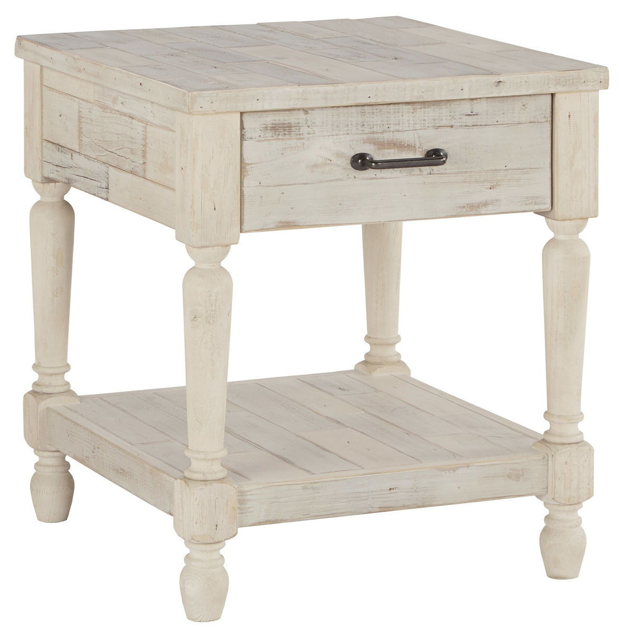The Shawnalore White Wash Rectangular End Table Available At Direct Value Furniture Serving Roscoe Il