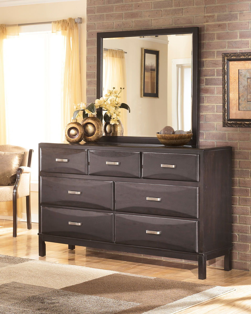 The Kira Almost Black 6 Pc Dresser Mirror Chest King Bed With Storage Available At Direct Value Furniture Serving Roscoe Il And Surrounding Areas