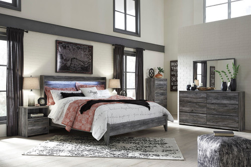 Baystorm Gray 4 Pc.King Panel Bedroom Collection