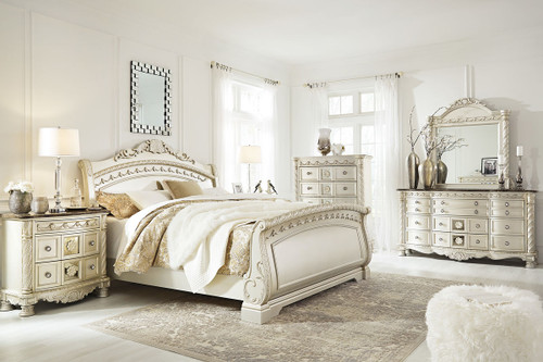 Cassimore Pearl Silver 8 Pc.King Panel Bedroom Collection