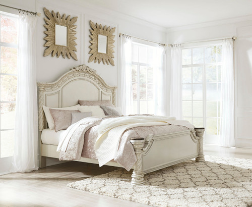 Cassimore Pearl Silver California King Panel Bed