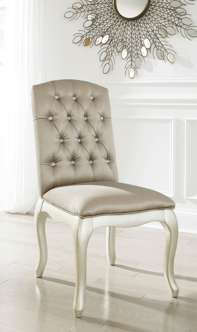 Cassimore Silver Upholstered Chair