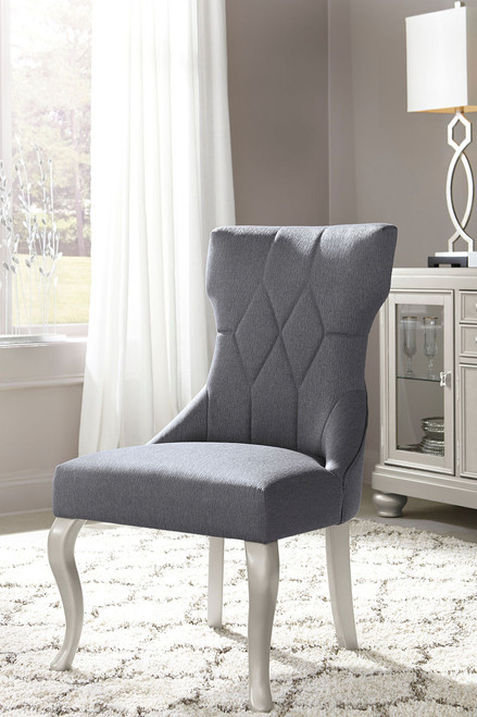 Coralayne Dark Gray Dining Upholstered Side Chair(set of 2)