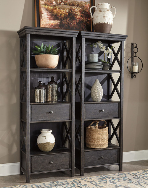 Tyler Creek Black/Gray Display Cabinets (2)