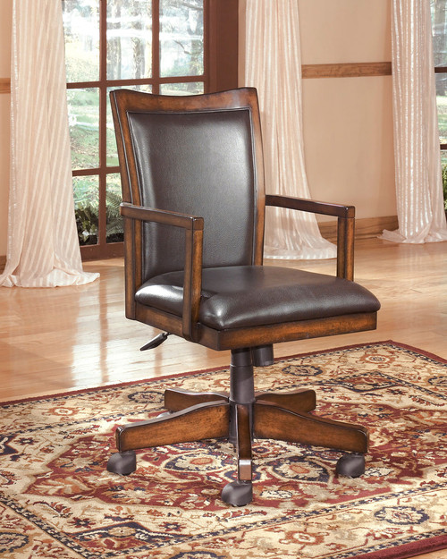 Hamlyn Medium Brown Home Office Swivel Desk Chair
