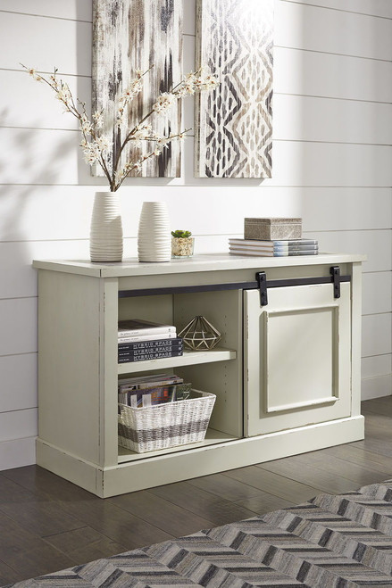 Jonileene White/Gray Home Office Cabinet
